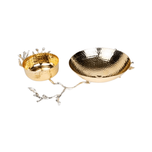 GOLD PLATED 2 LUXURY SERVING BOWL