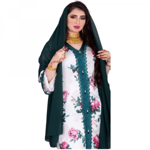 MAXI FLORAL JALABIYA FOR MUSLIM WOMEN