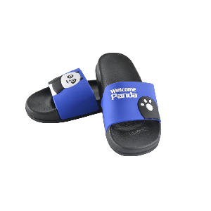 BOYS SLIPPER WITH WELCOME PANDA DESIGN BLUE