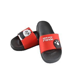 BOYS SLIPPER WITH WELCOME PANDA DESIGN RED