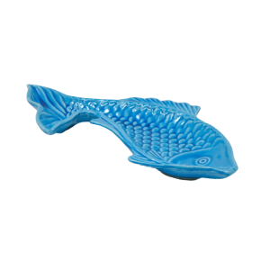 BLUE CERAMIC FISH PLATE