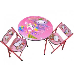 HELLO KITTY TABLE AND CHAIR SET