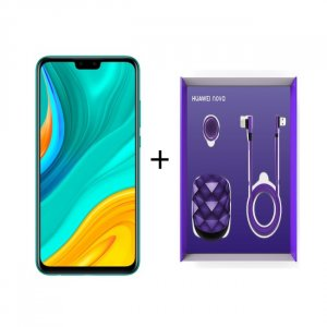 HUAWEI Y8S GREEN + PURPLE COLOR GIFT BOX