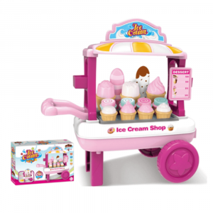 KIDS EDUCATIONAL ICE CREAM STAND SHOP PLAY SET FOR GIRLS