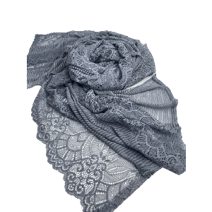 SCARVES PLEATED WITH DANTIL