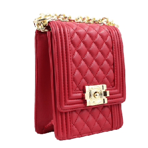 Quilted Vertical Crossbody Handbag