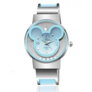 Disney Mickey Mouse Alloy Bracelet Watches Women Wrist Watch Blue