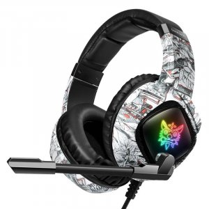 GAMING HEADSET K19 PROFESSIONAL WITH LED LIGHTS AND NOISE CANCELLATION MICROPHONE CAMO WHITE ONIKUMA