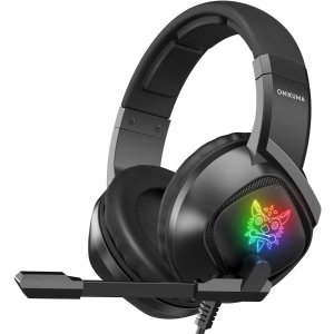 GAMING HEADSET K19 PROFESSIONAL WITH LED LIGHTS AND NOISE CANCELLATION MICROPHONE BLACK ONIKUMA