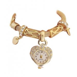 Special Dial Design Watch Gold