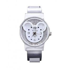 Disney Mickey Mouse Alloy Bracelet Watches Women Wrist Watch White