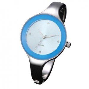 KIMIO Charm Bling Elegant Women Lady Dial Bangle Bracelet Quartz Wrist Watch Blue
