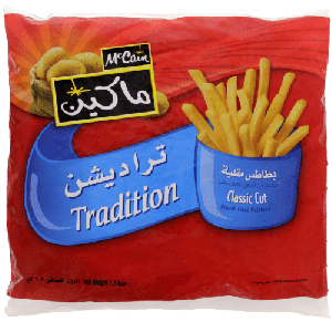 MCCAIN TRADITION FRENCH FRIED POTATOES 1500GM