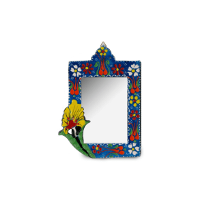 FLORAL HAND PAINT CERAMIC WITH MIRROR