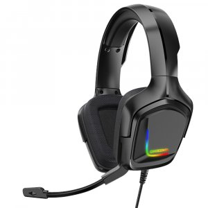 GAMING HEADSET K20 PROFESSIONAL WITH LED LIGHTS AND NOISE CANCELLATION MICROPHONE BLACK ONIKUMA
