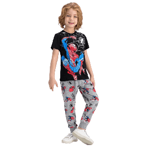TWO PIECES SPIDER MAN PANTS SET