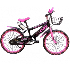 SPORT BICYCLE WITH CHECKERED DESIGN PINK SIZE 20