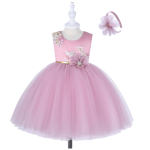 GIRLS SEQUIN FORMAL DRESS SET WITH GIFT BOX PINK FOR 2 TO 5 Y/O