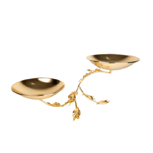 LUXURY GOLD PLATED ROUND DISHES