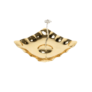 GOLD PLATED LUXURY SERVING PLATE