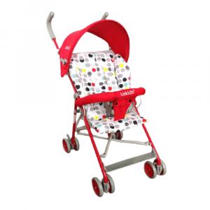 BABY STROLLER RED SUPER LIGHT WEIGHT