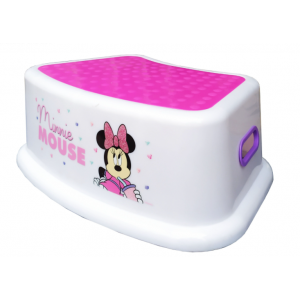 STEP STOOL PLASTIC FOR KIDS WITH MINNIE MOUSE PRINT