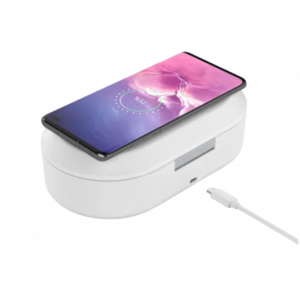 STERILIZING BOX WITH WIRELESS CHARGER FOR MOBILE PHONE