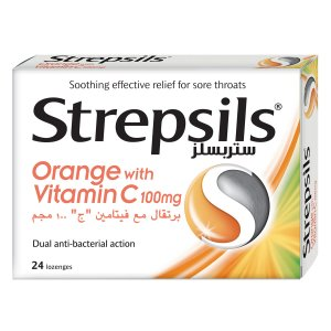 STREPSILS ORANGE WITH VITAMIN C