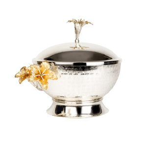 SILVER LUXURY BOWL WITH COVER