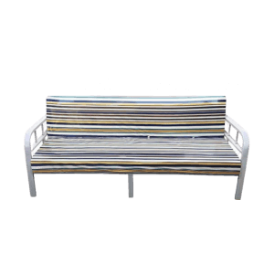 MULTIFUNCTION SOFA STRIPES WITH BED METAL FRAME