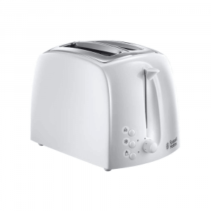 TOASTER WHITE PLASTIC 2 SLICE TEXTURES 21640 RUSSELL HOBBS