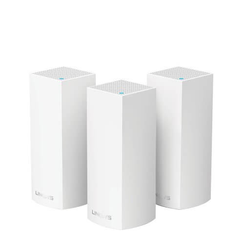 WHOLE HOME INTELLIGENT MESH WIFI SYSTEM VELOP TRI-BAND 3-PACK LINKSYS WHW0303 AC6600