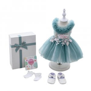 BABY GIRL DRESS SET WITH GIFT BOX FOR 18 TO 24M